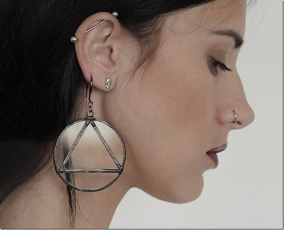 Minimalist Glass Earrings To Decorate Your Halloween Ears