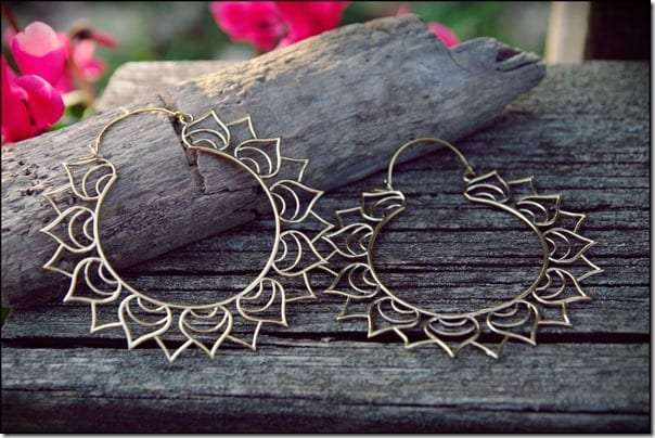 oversize-bronze-lotus-hoop-earrings