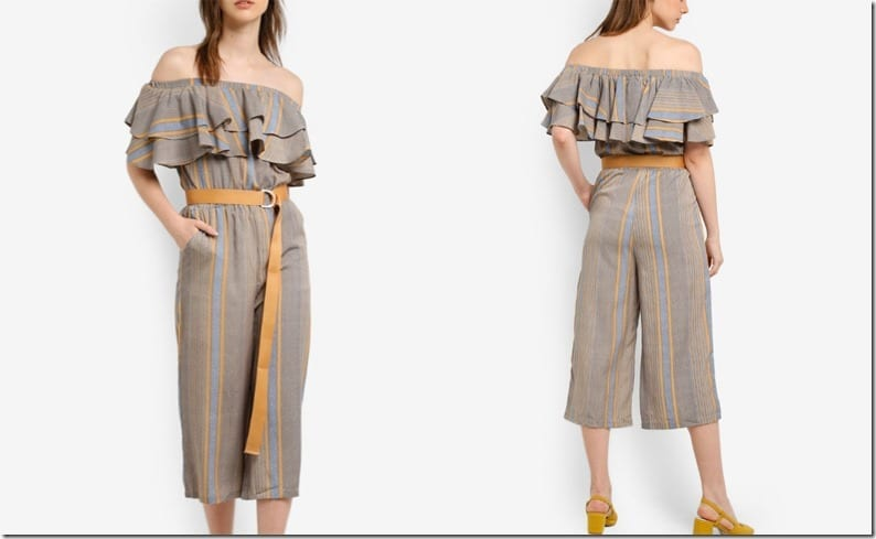 ruffle-off-shoulder-stripe-khaki-jumpsuit