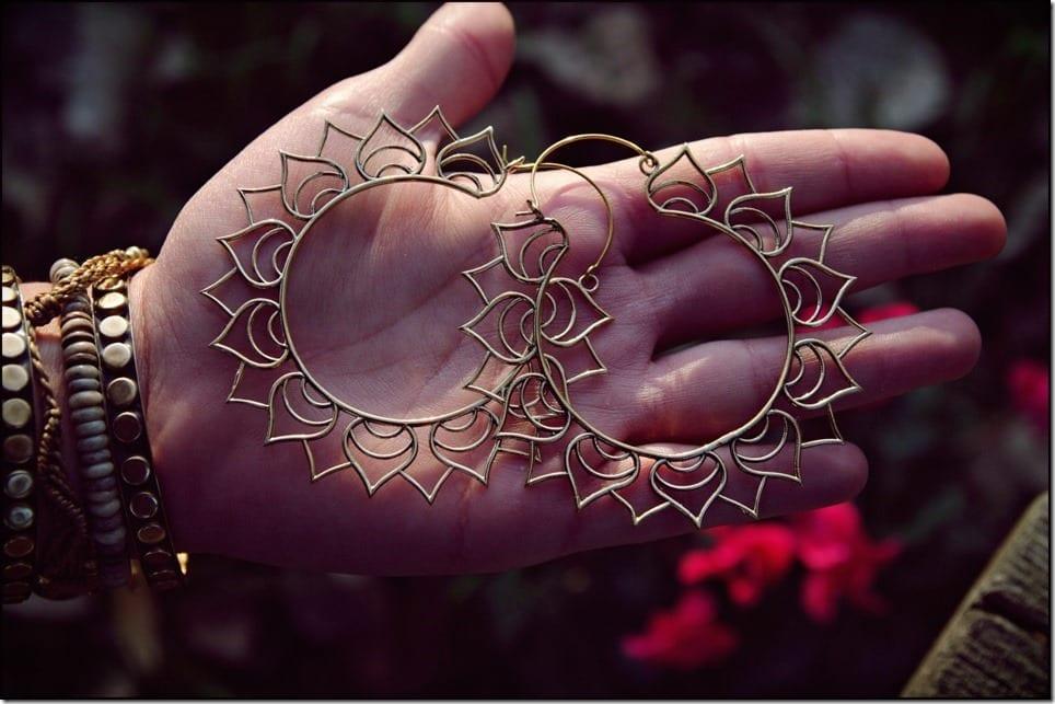 Diwali 2017 Jewelry Inspo ~ Lotus Flower Statement Earrings