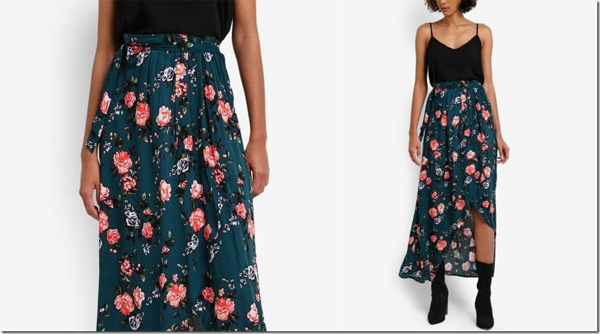 teal-floral-wrap-maxi-skirt