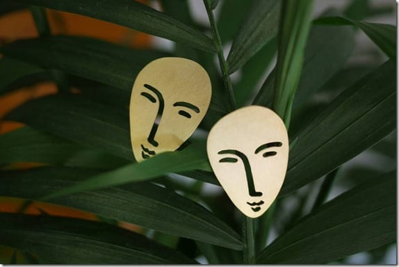 unique-brass-face-earrings