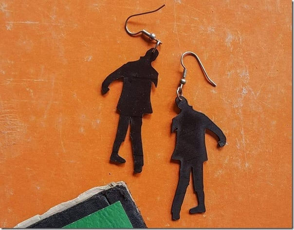 zombie-vinyl-record-earrings