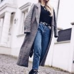 Fashionista NOW: How Style Bloggers Wear The Long Check Plaid Coat Fashion Trend?