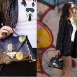 Fashionista NOW: Black And Yellow Abstract Statement Bag Style Inspo