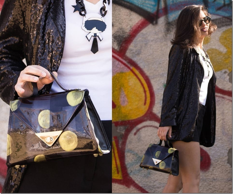Black And Yellow Abstract Statement Bag Style Inspo