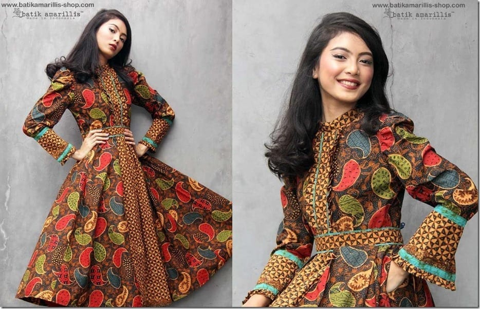Romantic Midi Batik Dress Style Fashion Inspiration