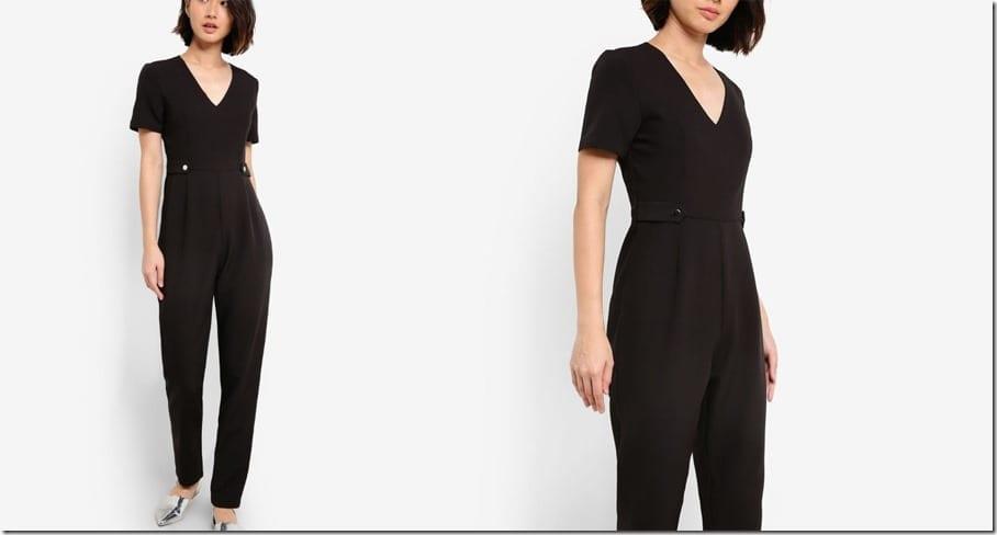 black-short-sleeve-tailored-jumpsuit