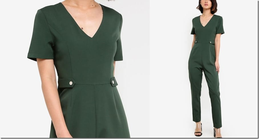 forest-green-short-sleeve-tailored-jumpsuit