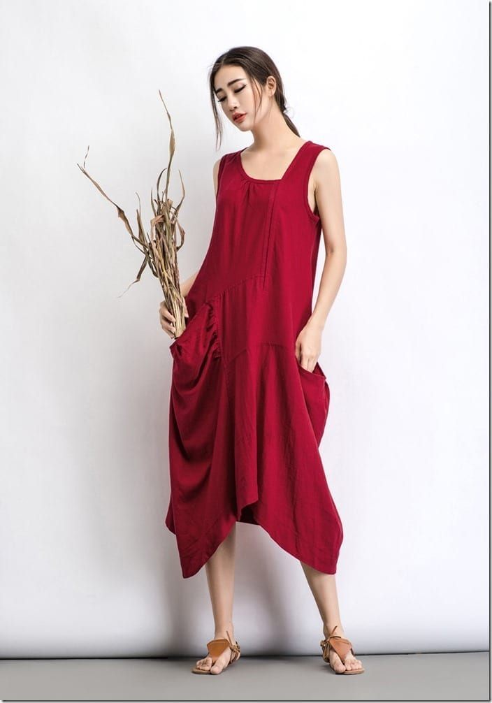Loose Fit Red Dress Style Ideas For Casual Christmas 2017 OOTD