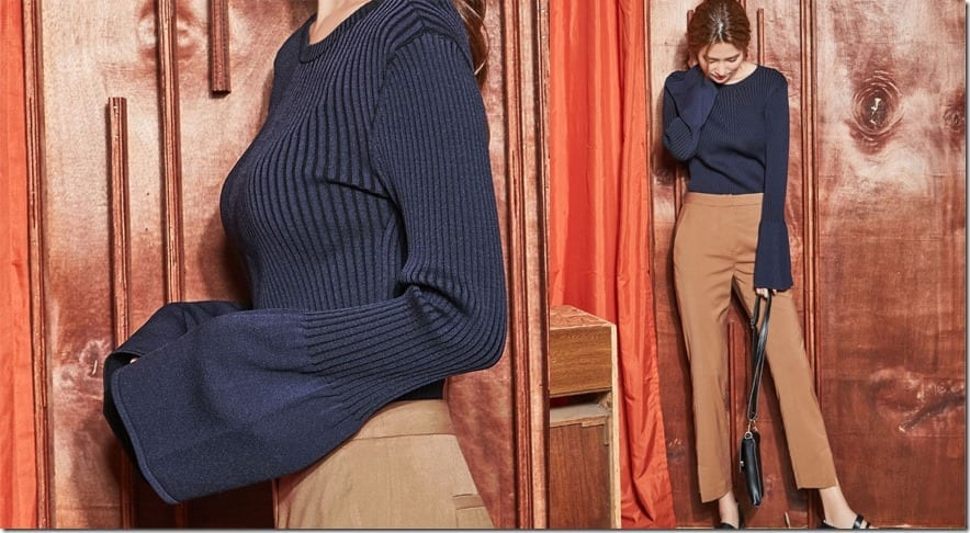 navy-bell-sleeve-knit-top