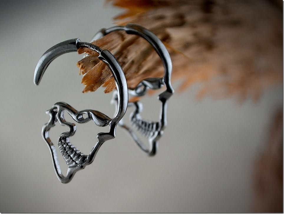 Open Skull Hoop Earrings Your Edgy Ears Need