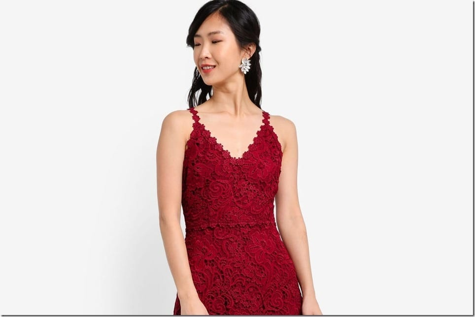 Festive Red Christmas Party Dress Inspo
