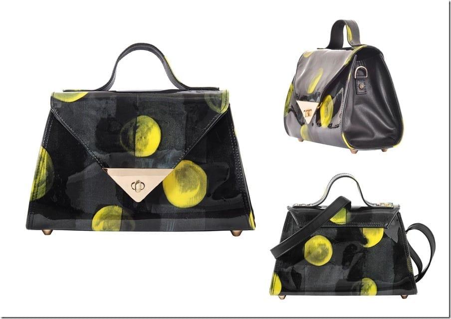 shiny-abstract-black-yellow-statement-bag
