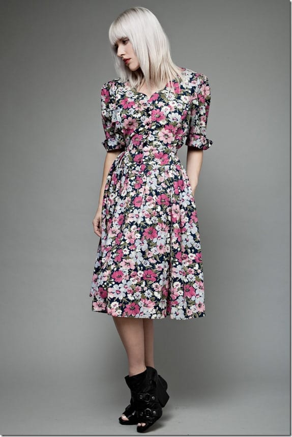 vintage-90s-floral-puff-sleeve-dress
