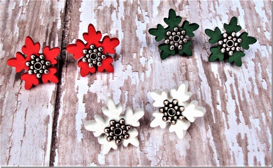 wooden-snowflake-stud-earrings