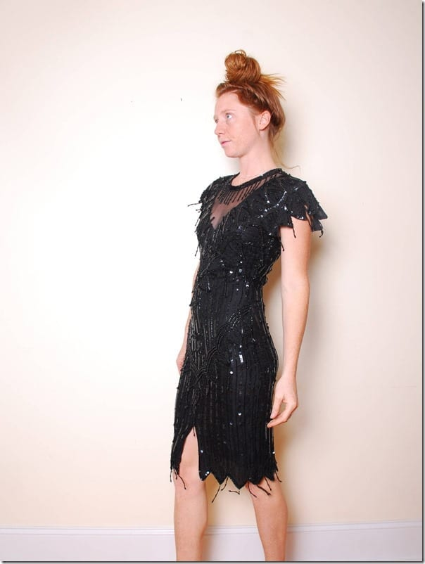 80s-black-sequin-beaded-flapper-dress