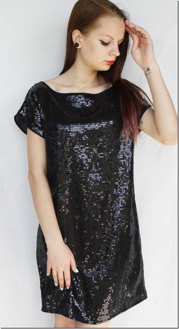 black-vintage-sequin-mini-dress