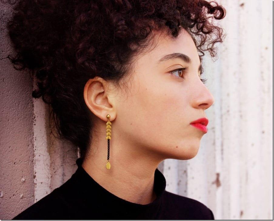 chevron-leafy-long-drop-earrings