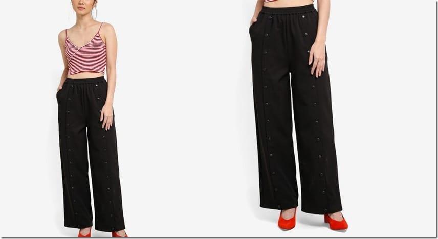 chic-black-popper-pants