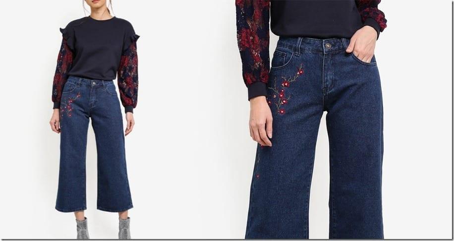 dark-blue-embroidered-denim-culottes
