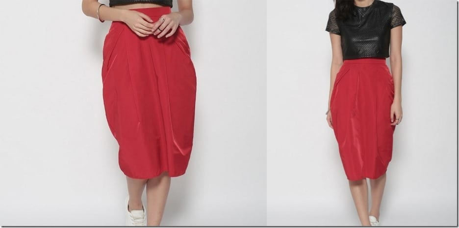dazzling-red-pocket-midi-skirt