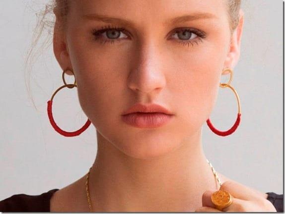 double-hoop-red-crochet-earrings