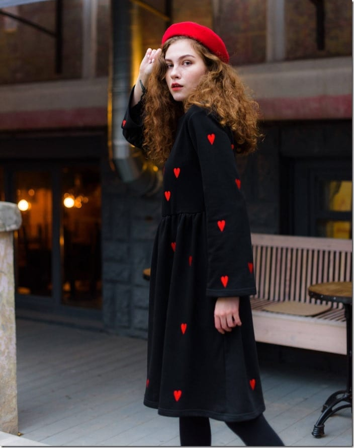 embroidered-red-heart-black-dress
