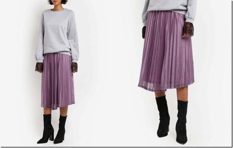 flowy-lavender-pleated-metallic-skirt