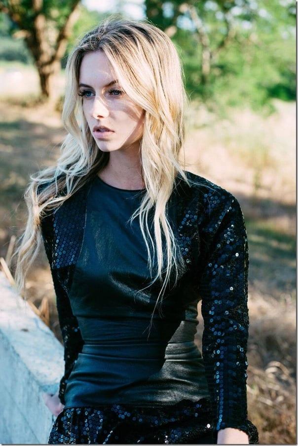 glam-rock-black-sequin-leather-dress