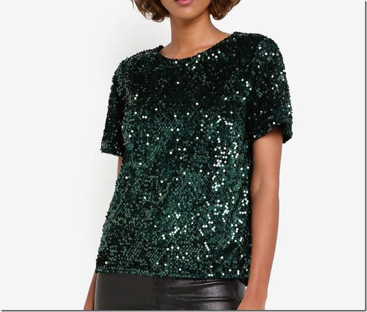 green-sequin-short-sleeve-top