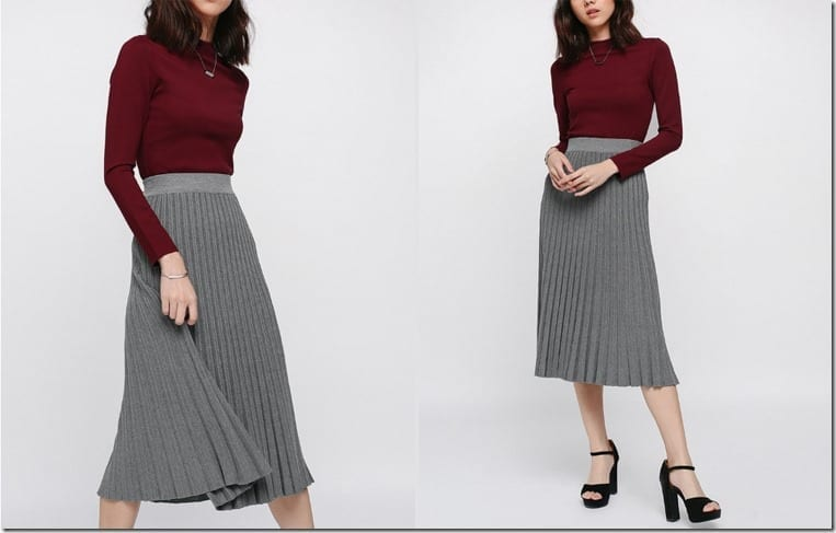 grey-knit-midi-pleated-skirt