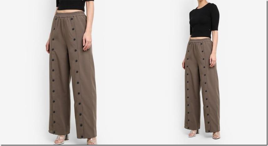 khaki-green-popper-pants