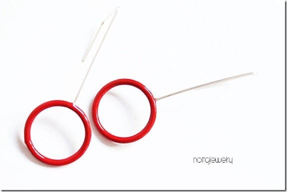 mix-metal-red-circle-party-earrings