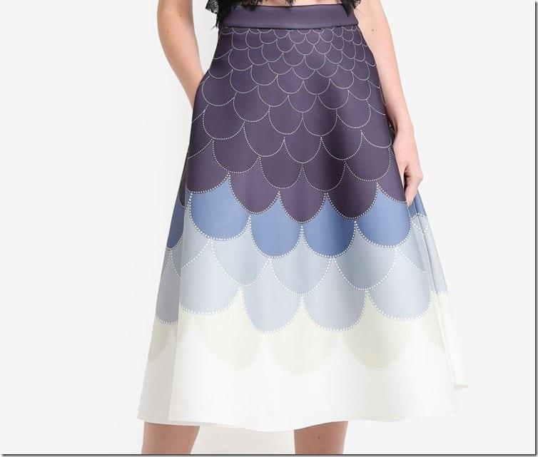 ombre-grey-fish-scale-midi-skirt
