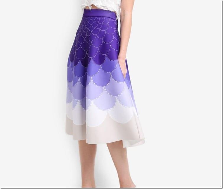 ombre-purple-fish-scale-midi-skirt