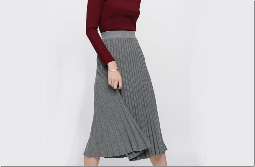 Pleated Skirt Styles For Your Christmas 2017 OOTD