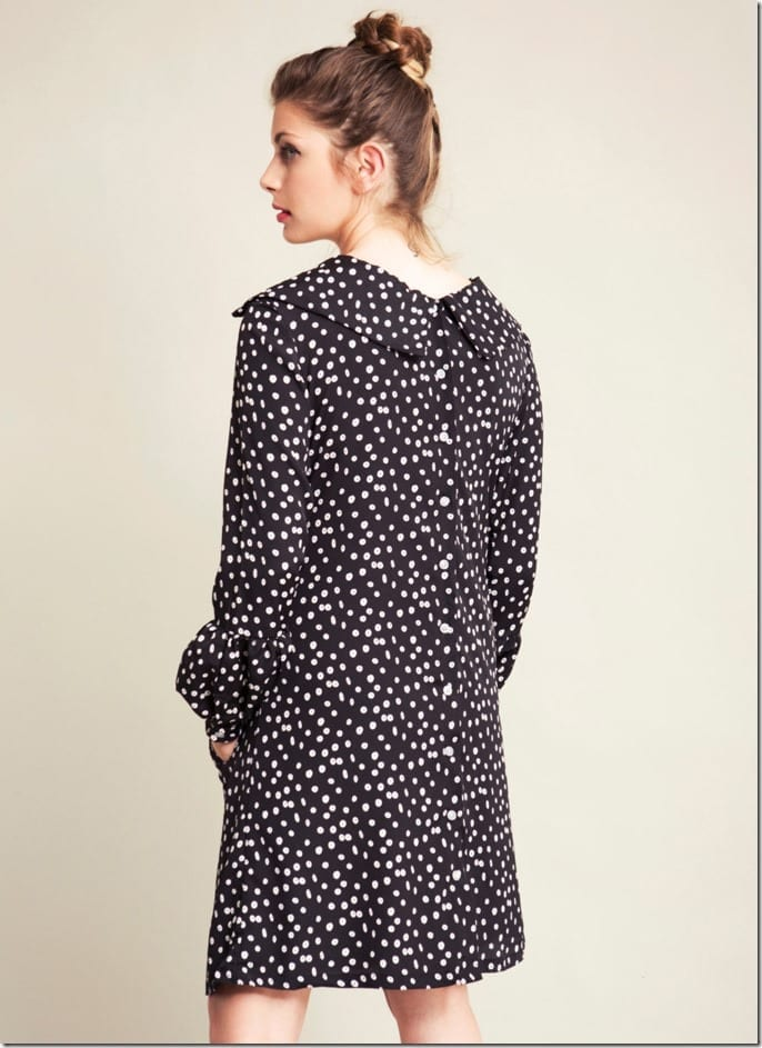 polka-dot-back-collar-dress