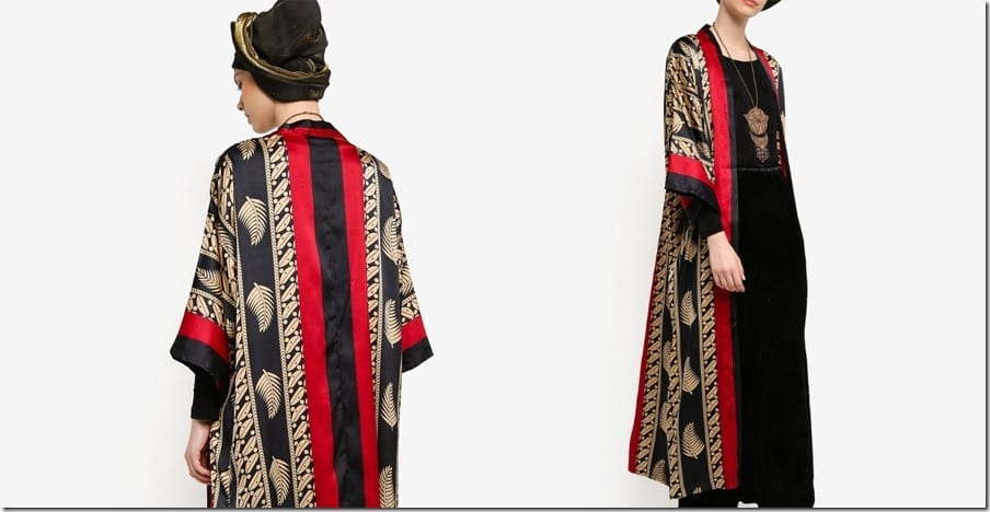 red-black-panel-print-longline-cardigan