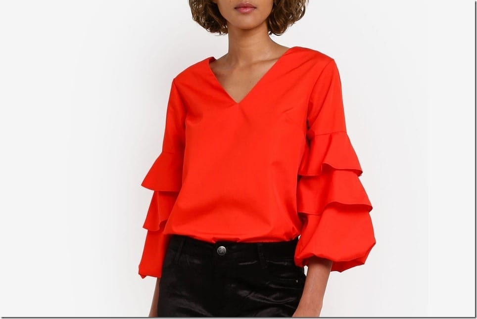 5 Statement RED Blouse Styles For Your Christmas Party OOTD