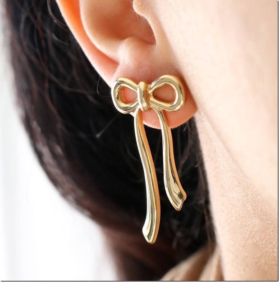 Ribbon Bow Earrings To Wear Because You Are Life's Precious Gift