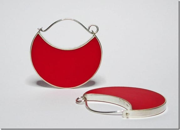 sterling-silver-red-hoop-statement-earrings