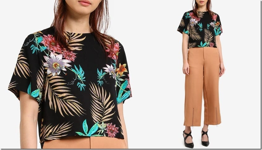 tropical-floral-print-crop-top