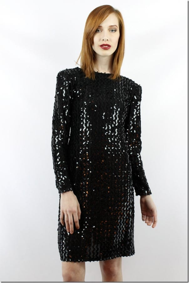 vintage-80s-long-sleeve-black-sequin-dress