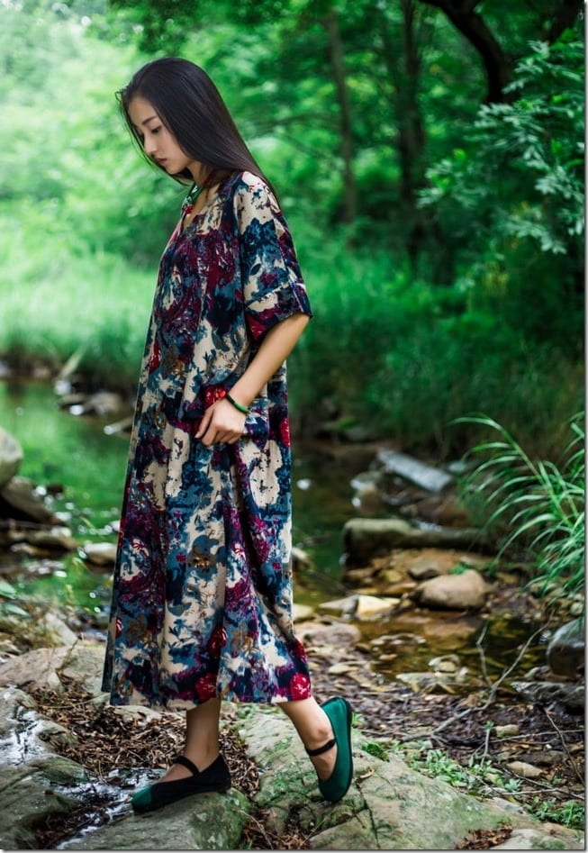 abstract-floral-loose-fit-dress