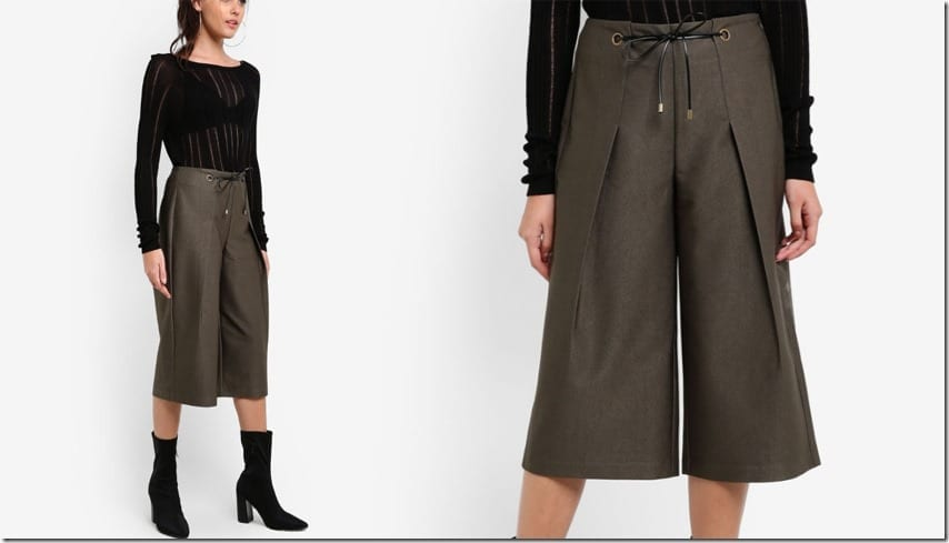 army-green-waist-tie-dressy-pleated-culottes