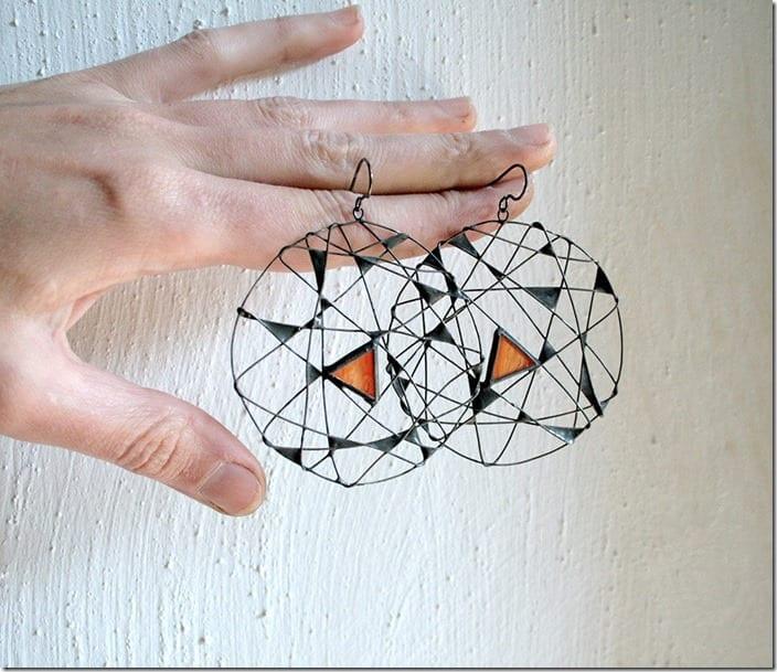 blood-orange-statement-geomeric-earrings