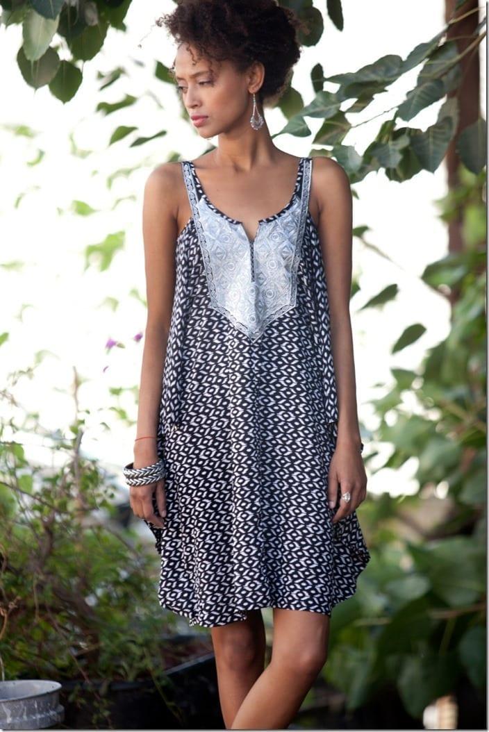 cut-out-shoulder-loose-patterned-kaftan-dress