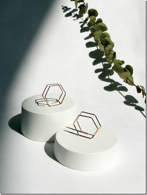 double-hexagon-geometric-earrings