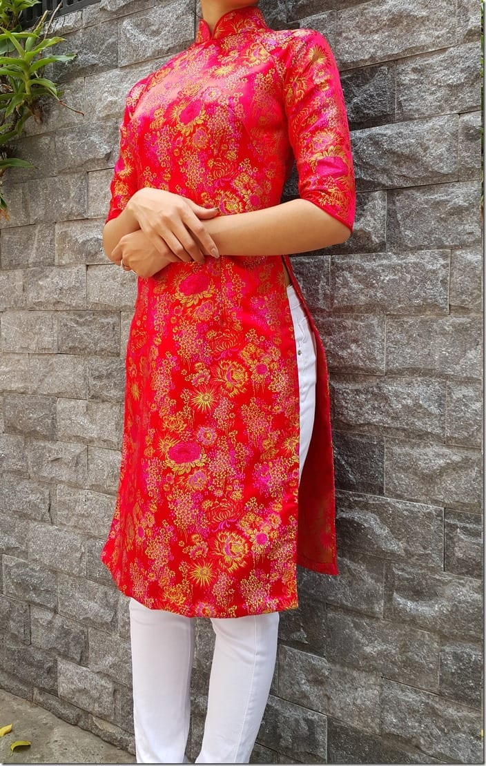 modern ao dai tunic style for your lunar new year 2018